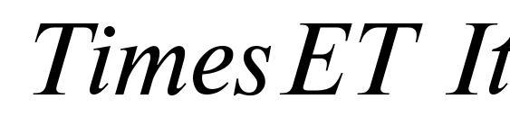 Шрифт TimesET Italic
