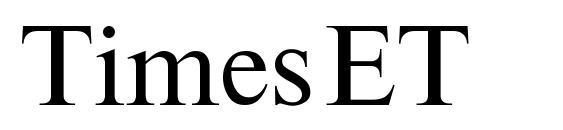 Шрифт TimesET