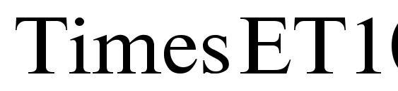 Шрифт TimesET105n