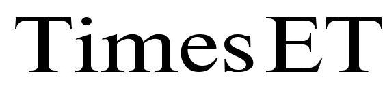 Шрифт TimesET110