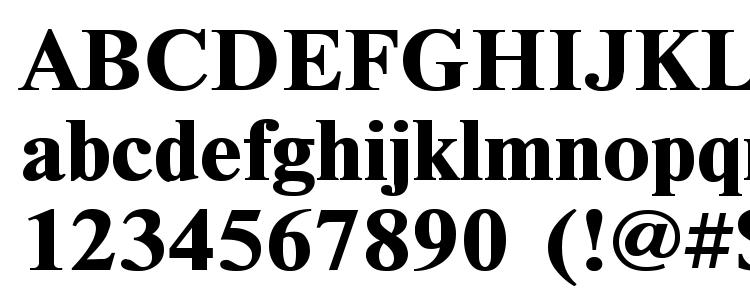 глифы шрифта TimesET110B, символы шрифта TimesET110B, символьная карта шрифта TimesET110B, предварительный просмотр шрифта TimesET110B, алфавит шрифта TimesET110B, шрифт TimesET110B