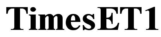 TimesET110B font, free TimesET110B font, preview TimesET110B font