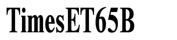 Шрифт TimesET65B