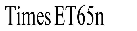 Шрифт TimesET65n