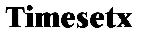 Timesetx Font