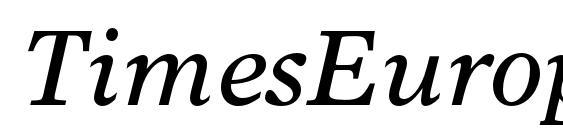 Шрифт TimesEuropaLTStd Italic