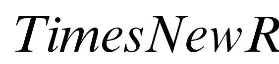 TimesNewRomanMTStd Italic Font