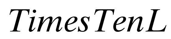 Шрифт TimesTenLTStd Italic