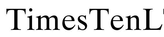 Шрифт TimesTenLTStd Roman