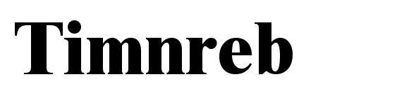 Timnreb Font