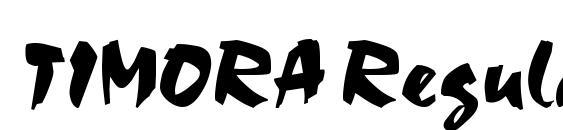 TIMORA Regular font, free TIMORA Regular font, preview TIMORA Regular font