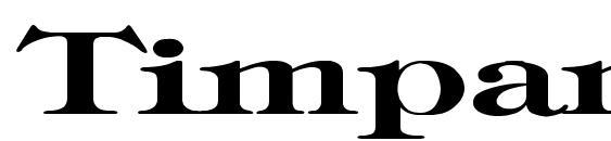 Timpani Bold Ex Font