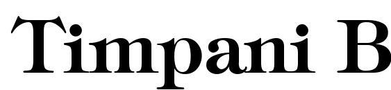 Timpani Bold Font