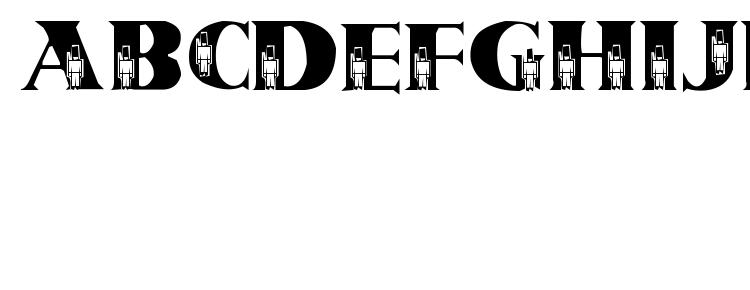 глифы шрифта Tin soldiers, символы шрифта Tin soldiers, символьная карта шрифта Tin soldiers, предварительный просмотр шрифта Tin soldiers, алфавит шрифта Tin soldiers, шрифт Tin soldiers