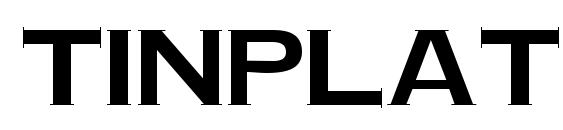TinPlate Regular Font