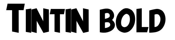 Шрифт Tintin bold