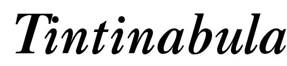 Tintinabulation bold italic Font