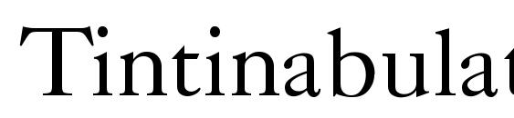 Tintinabulation normal font, free Tintinabulation normal font, preview Tintinabulation normal font