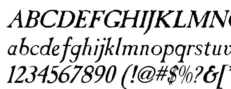 глифы шрифта Tintinabulation old italic, символы шрифта Tintinabulation old italic, символьная карта шрифта Tintinabulation old italic, предварительный просмотр шрифта Tintinabulation old italic, алфавит шрифта Tintinabulation old italic, шрифт Tintinabulation old italic