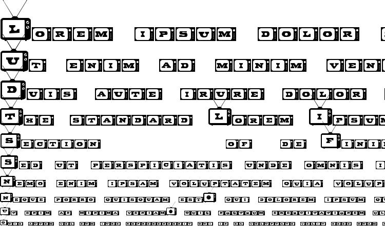 specimens Tiny Tube font, sample Tiny Tube font, an example of writing Tiny Tube font, review Tiny Tube font, preview Tiny Tube font, Tiny Tube font