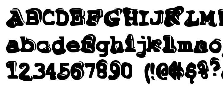 глифы шрифта Tiptonian, символы шрифта Tiptonian, символьная карта шрифта Tiptonian, предварительный просмотр шрифта Tiptonian, алфавит шрифта Tiptonian, шрифт Tiptonian