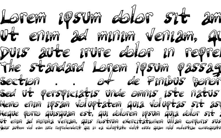 образцы шрифта Tired terrorist, образец шрифта Tired terrorist, пример написания шрифта Tired terrorist, просмотр шрифта Tired terrorist, предосмотр шрифта Tired terrorist, шрифт Tired terrorist