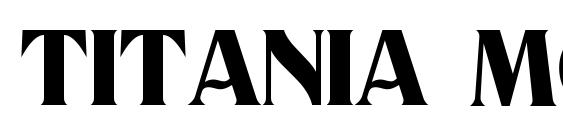 Шрифт Titania Modern