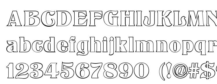 glyphs Titania Outline font, сharacters Titania Outline font, symbols Titania Outline font, character map Titania Outline font, preview Titania Outline font, abc Titania Outline font, Titania Outline font