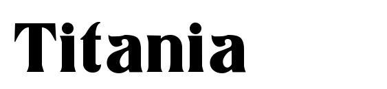 Шрифт Titania