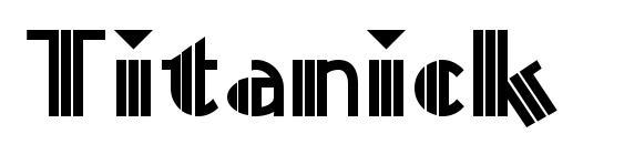 Titanick Display NF Font