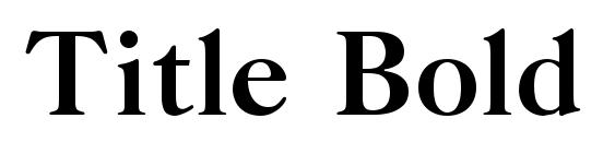 Title Bold Font