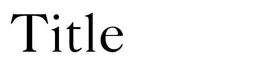 Шрифт Title