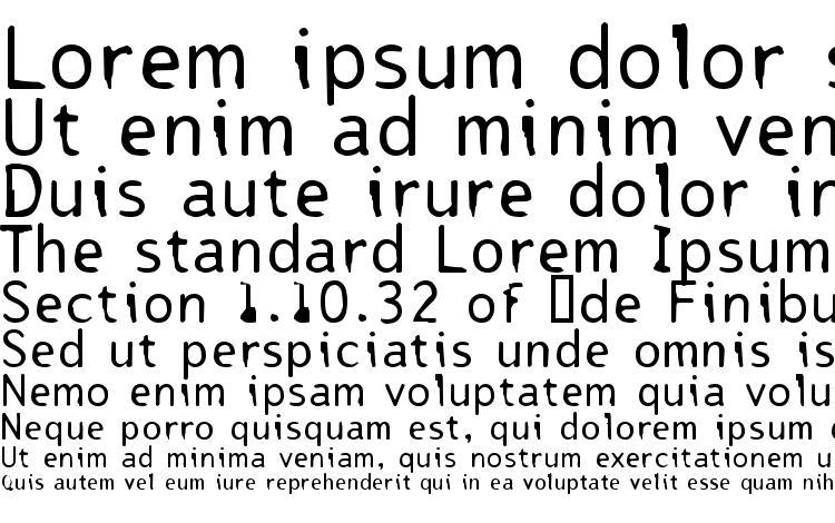 specimens Tjackluder font, sample Tjackluder font, an example of writing Tjackluder font, review Tjackluder font, preview Tjackluder font, Tjackluder font
