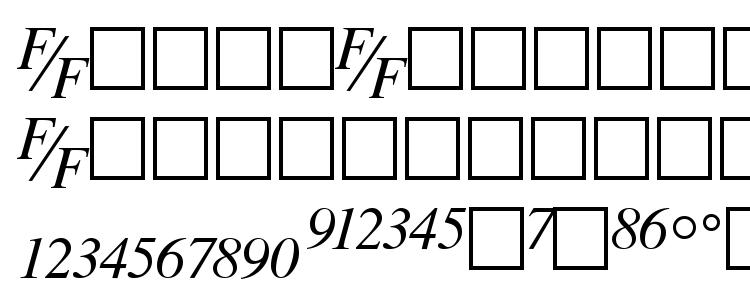 glyphs TmsFE Italic font, сharacters TmsFE Italic font, symbols TmsFE Italic font, character map TmsFE Italic font, preview TmsFE Italic font, abc TmsFE Italic font, TmsFE Italic font