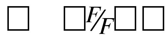 Шрифт TmsFE Italic