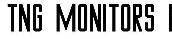 TNG Monitors Plain font, free TNG Monitors Plain font, preview TNG Monitors Plain font