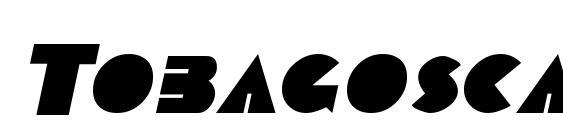 Tobagoscapsssk bolditalic Font