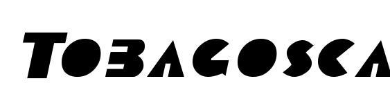 Шрифт Tobagoscapsssk italic
