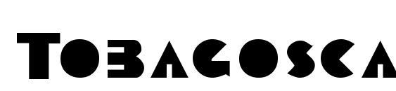 шрифт Tobagoscapsssk, бесплатный шрифт Tobagoscapsssk, предварительный просмотр шрифта Tobagoscapsssk
