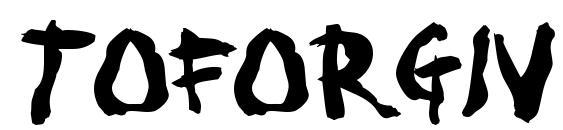 Toforgiv Font