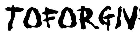 Шрифт Toforgive