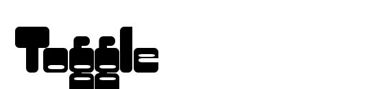 Шрифт Toggle