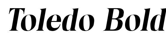 Toledo Bold Italic Font