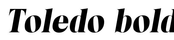 Шрифт Toledo boldita