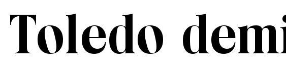 Шрифт Toledo demibold
