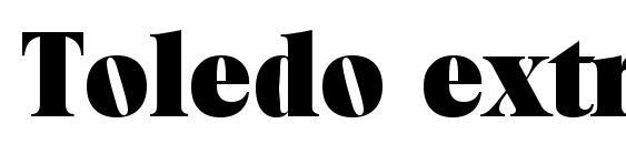 Шрифт Toledo extrabold