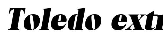 Шрифт Toledo extraboldita
