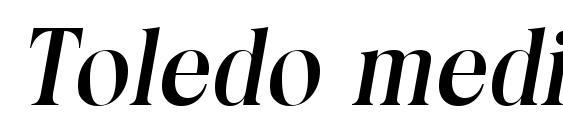 Шрифт Toledo mediumita