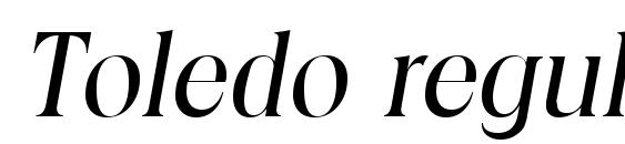 Toledo regularita font, free Toledo regularita font, preview Toledo regularita font