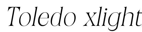 Шрифт Toledo xlightita
